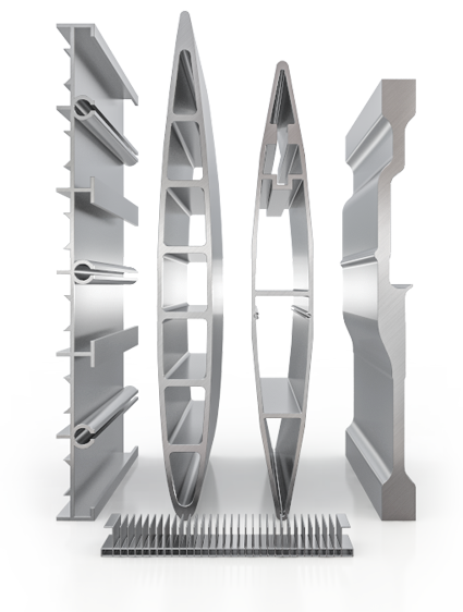 wide and heavy aluminum extrusions