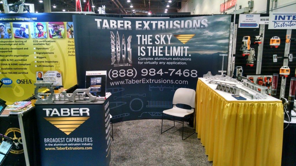 Taber Extrusions will be at the World of Concrete trade show Tuesday through Friday, February 2-5.
