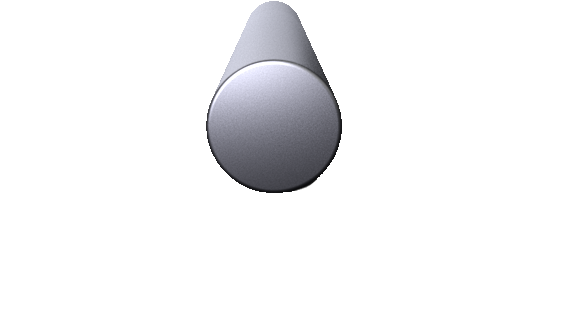 3-D Render of a 11 inch diameter aluminum billet.
