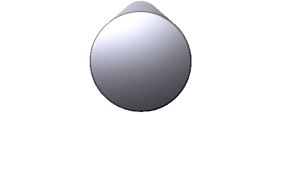3-D Render of a 16 inch diameter aluminum billet.