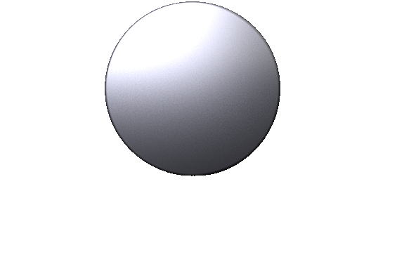 3-D Render of a 20 inch diameter aluminum billet.