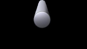 3-D Render of a 8 inch diameter aluminum billet.