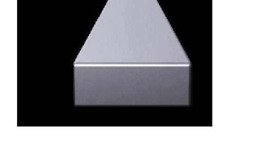 3-D Render of a 10 x 28 inch diameter aluminum slab.