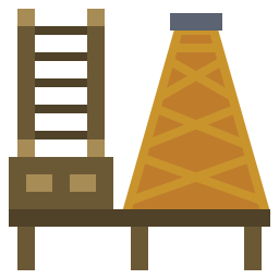 Brown process machine icon